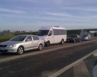 wizyta premiera- Przemyśl 2012(nasz bus w kolumnie BOR)